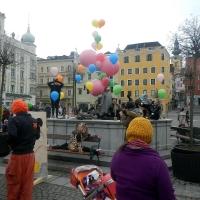 Turnen am Stadtplatz zum Familienfasching 2014 in Gmunden